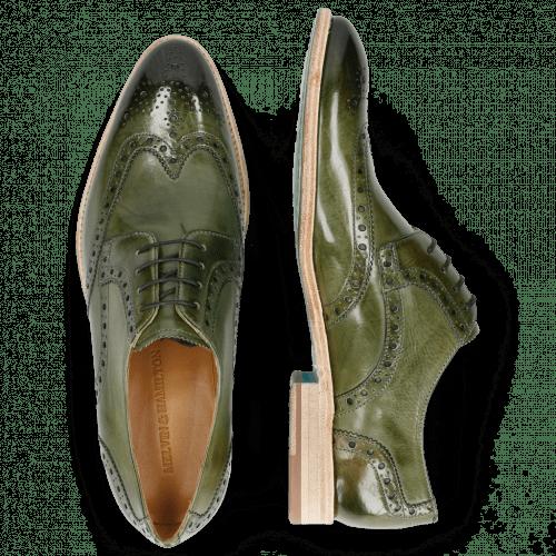 Derby shoes Bobby 5 Washed Algae