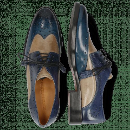Derby shoes Betty 3 Ice Lake Oxygen Wind Tassel