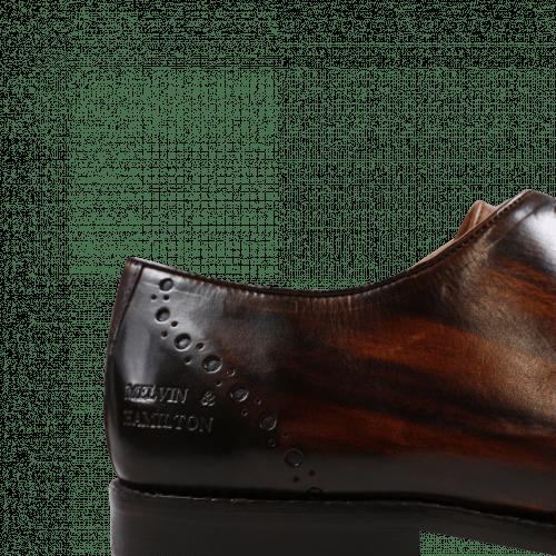 Oxford shoes Nicolas 1 Crust Tan Shade & Lines Dark Brown HRS