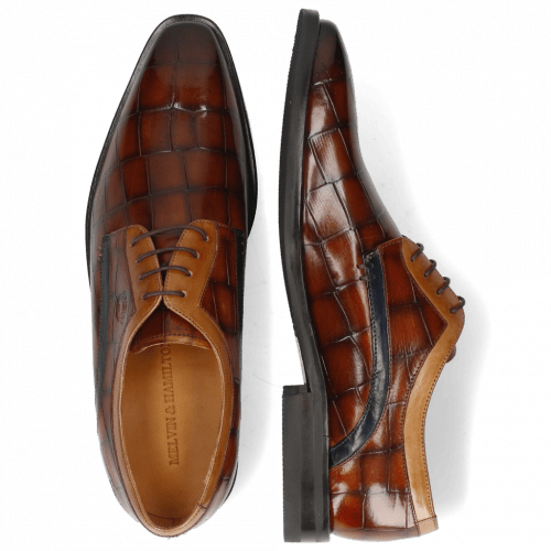 Derby shoes Alex 10 Turtle Wood Sand Tan