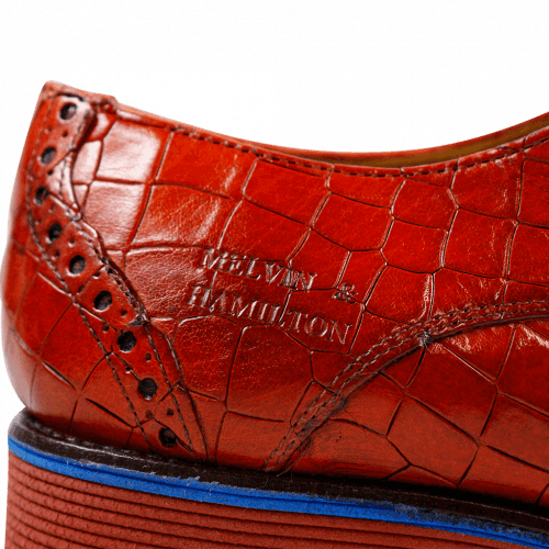 Derby shoes Amelie 3 Crock Orange Rook D Red EVA Blue