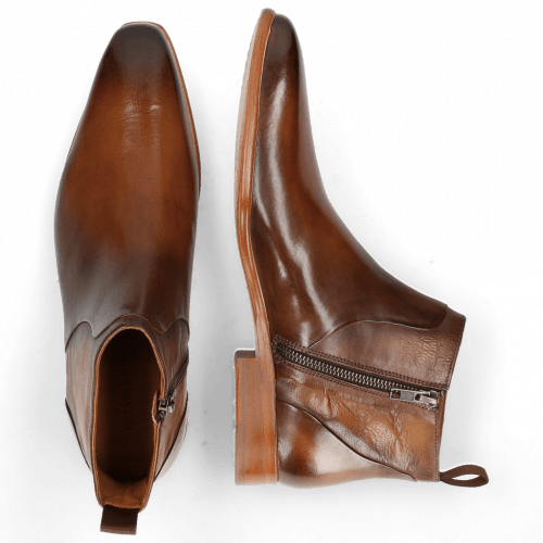 Ankle boots Lance 51 Wood Nappa Glove Camel