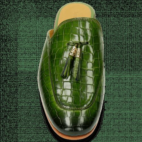Mules Clive 5 Crock Green Tassel Green