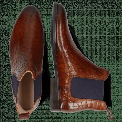 Ankle boots Susan 10 Crock Mid Brown Elastic Purple