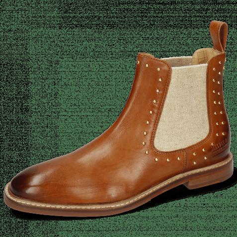 Ankle boots Katrin 3 Imola Tan Elastic Lino