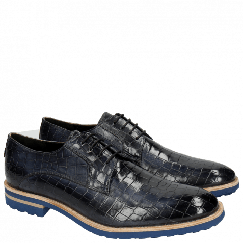 Derby shoes Eddy 8  Crock Navy Crip Blue