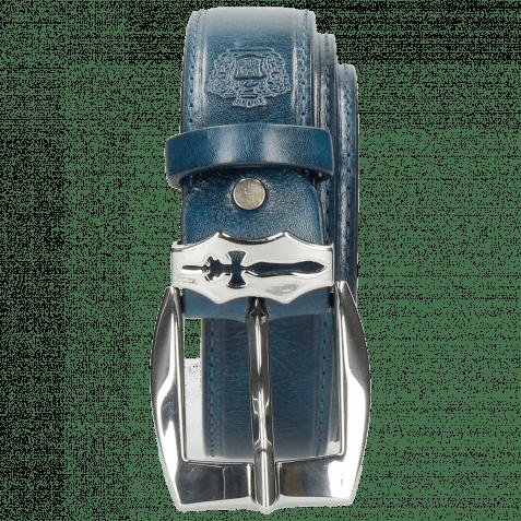 Belts Larry 1 Mid Blue Sword Buckle