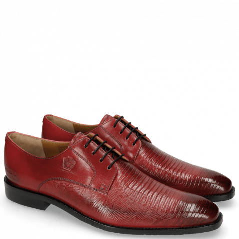 Derby shoes Martin 1 Venice Guana Ruby Laces Navy
