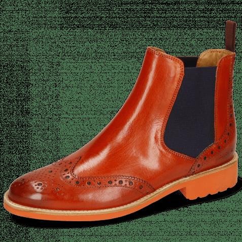 Ankle boots Selina 6 Winter Orange Elastic Purple