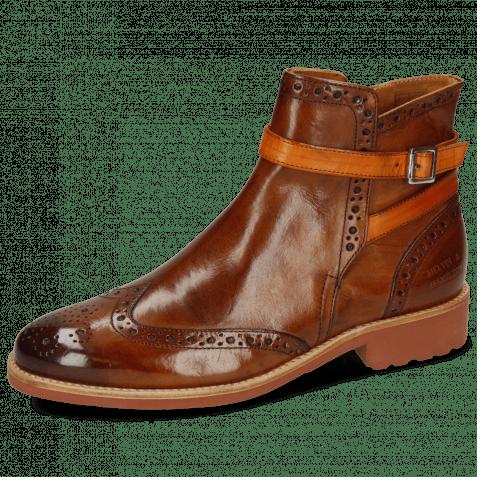 Ankle boots Selina 25 Wood Strap Orange Lining