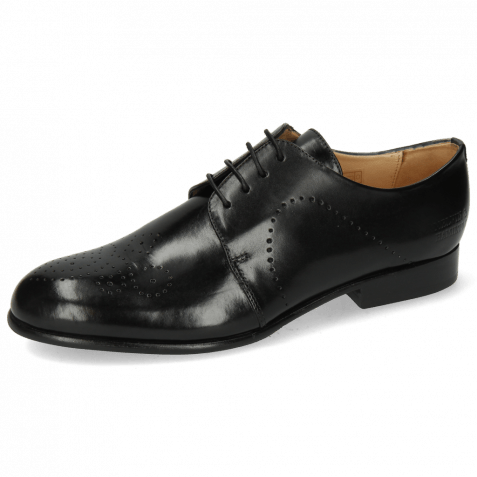Derby shoes Sally 1 Black Lining Rich Tan