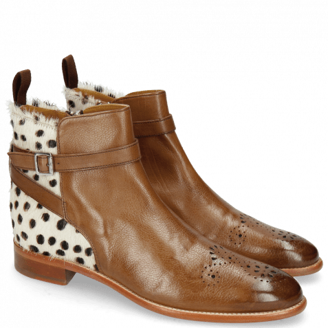 Ankle boots Betty 8 Pavia Mid Brown Hairon Wildcat