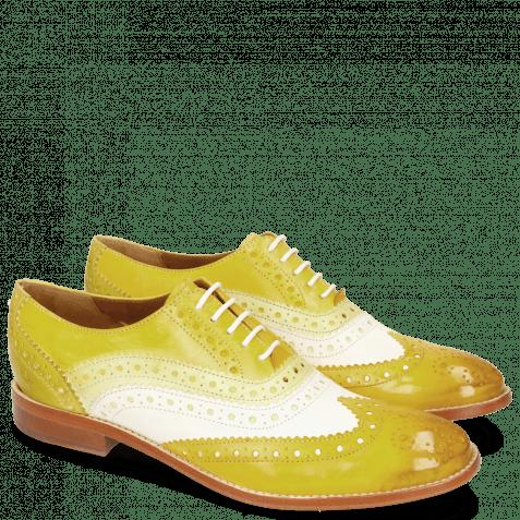 Oxford shoes Amelie 10 Vegas Yellow White Cedro Sun