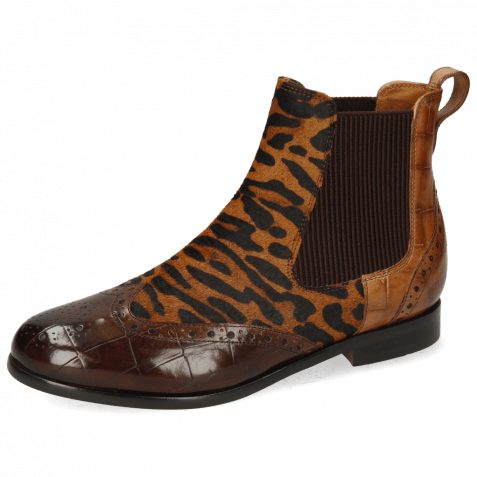Ankle boots Selina 29 Turtle Mid Brown Hairon Bans