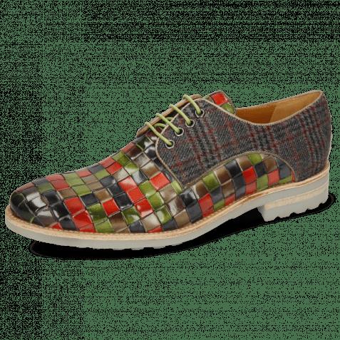 Derby shoes Brad 7 Woven Multi Textile Charcoal