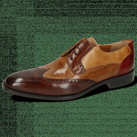 Derby shoes Jeff 14 Imola Dark Chocolate Tortora Wood Sand Brandy