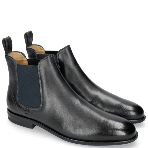 Ankle boots Susan 10 Rio Navy Elastic Navy Lining Rich Tan