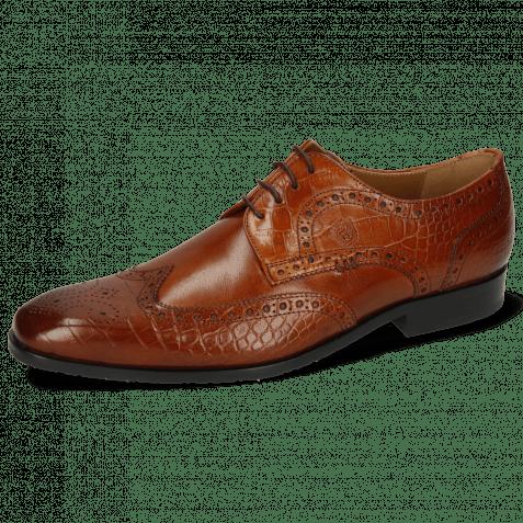 Derby shoes Rico 2 Venice Big Croco Wood