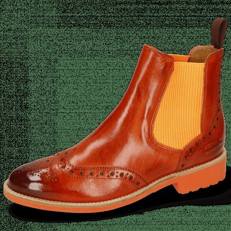 Ankle boots Selina 6 Winter Orange Elastic Ribbed Orange