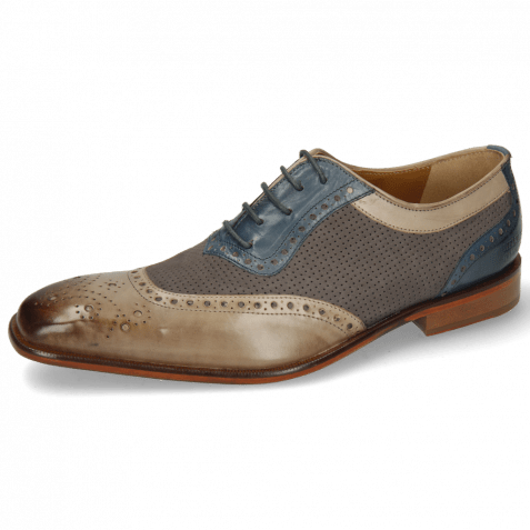 Oxford shoes Clark 16 Digital Nubuck Perfo Stone Mock Navy