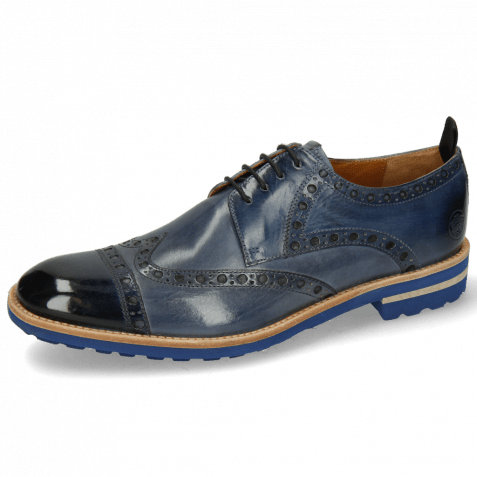 Derby shoes Eddy 48 Navy Moroccan Blue Wind
