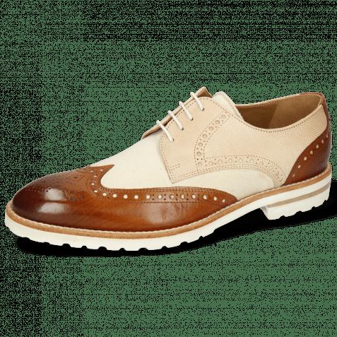 Derby shoes Kane 2 Tan Dice Beige Canvas White