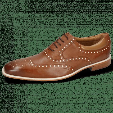 Oxford shoes Clark 35 Venice Pavia Nappa Tan Nappa Patent White
