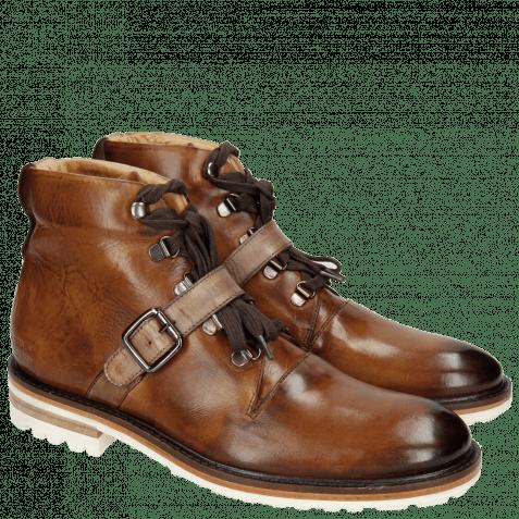 Ankle boots Trevor 3 Tan Strap Ash Crip White Welt Dark Brown