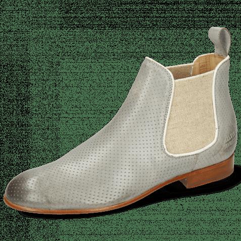 Ankle boots Sally 25 Imola Perfo Oxygen Elastic Lino