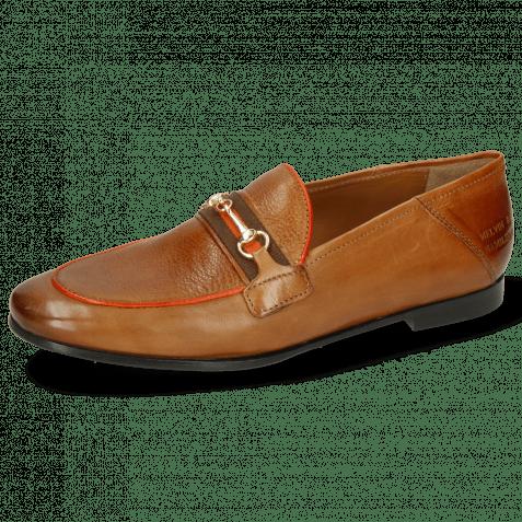 Loafers Scarlett 45 Pisa Tan Binding Fluo Orange