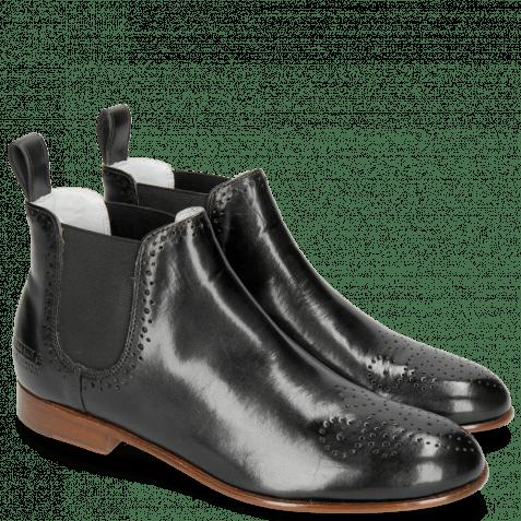 Ankle boots Sally 16 Black Elastic Black