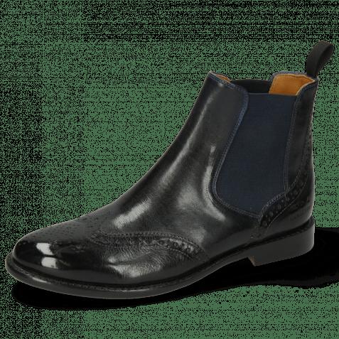 Ankle boots Selina 6 Pisa Navy Elastic Navy