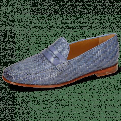 Loafers Scarlett 52 Vegas Haring Bone Weave Moroccan Blue