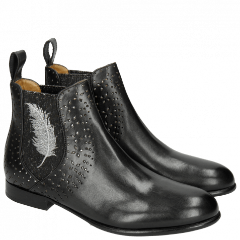 Ankle boots Sally 83 Black Elastic Glitter