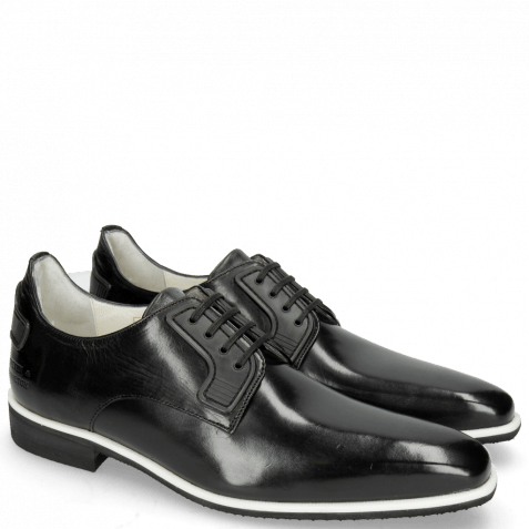 Derby shoes Dave 4 Black Lining Nappa White