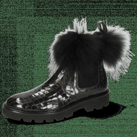 Ankle boots Sally 114  Crock London Fog Collar Fur