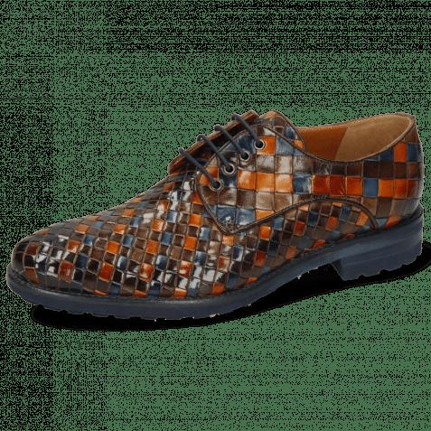 Derby shoes Brad 7 Woven Multi Woven Lining Rich Tan