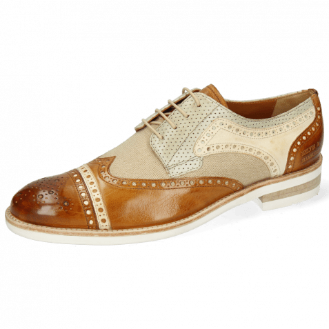 Derby shoes Henry 7 Imola Camel Nude Beige Perfo New Sand