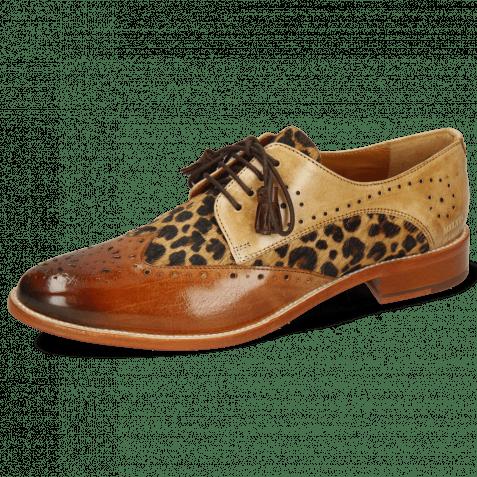 Derby shoes Betty 3 Tan Nude Hairon Leo Beige