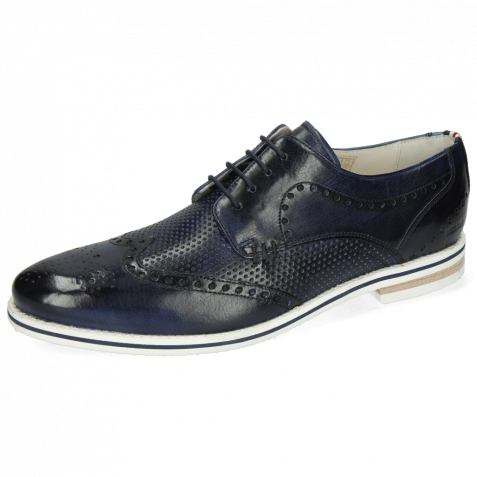 Derby shoes Scott 2 Vegas Perfo Navy Loop French