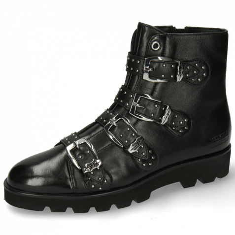 Ankle boots Susan 44 French Nappa Black Sword Buckle
