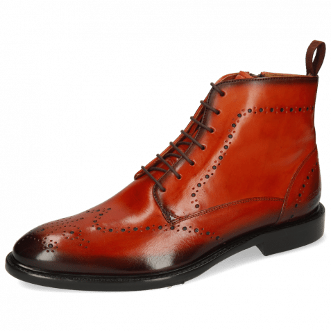 Ankle boots Bobby 9 Winter Orange Shade Brown