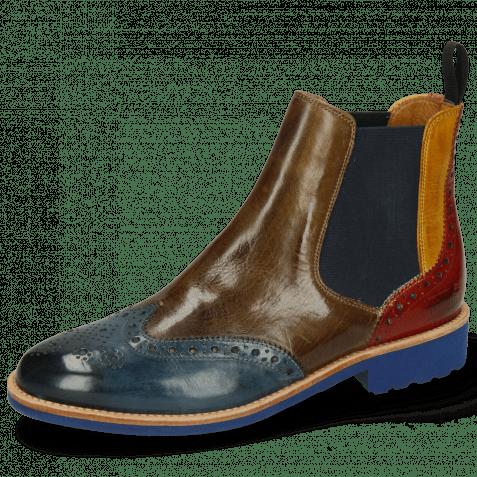 Ankle boots Selina 6 Ice Lake Khaki Indy Yellow Rubino