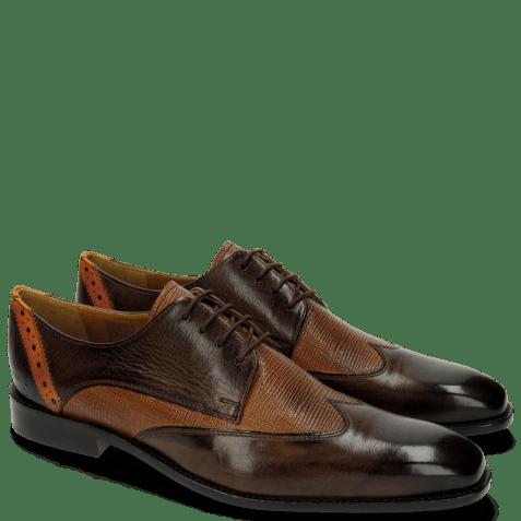 Derby shoes Xabi 1 Berlin Haina Dark Brown