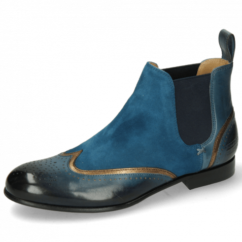 Ankle boots Sally 19 Ice Lake Nappa Aztek Bronze Sheep Suede Turquoise