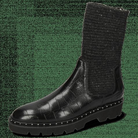 Ankle boots Susan 69 Turtle Black Textile Brina Black Lining