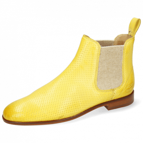 Ankle boots Susan 10 Imola Perfo Margarine Elastic Lino