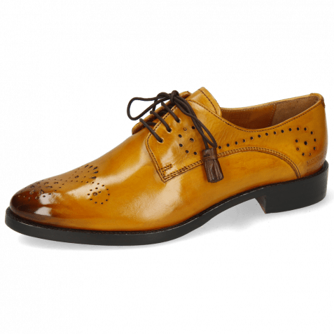 Derby shoes Betty 2 Indy Yellow Dark Finishing