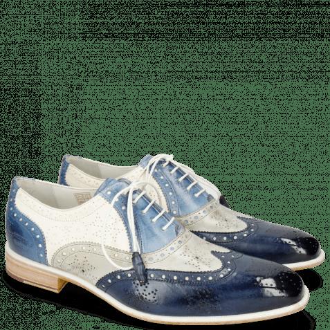 Oxford shoes Jeff 28 Vegas Navy Digital Moroccan Blue White