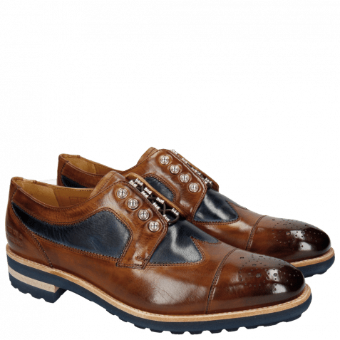 Derby shoes Tom 22 Wood Navy Nickle